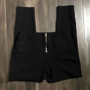 Bebe black zipper leggings S/P